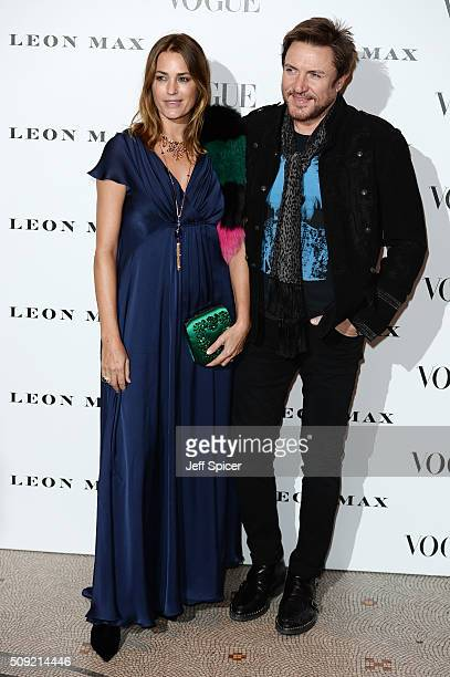 Yasmin Le Bon and Simon Le Bon attend at Vogue 100 A Century Of Style at the National Portrait Gallery on February 9 2016 in London England