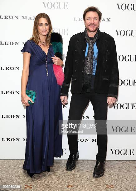 Yasmin Le Bon and Simon Le Bon attend at Vogue 100 A Century Of Style atNational Portrait Gallery on February 9 2016 in London England