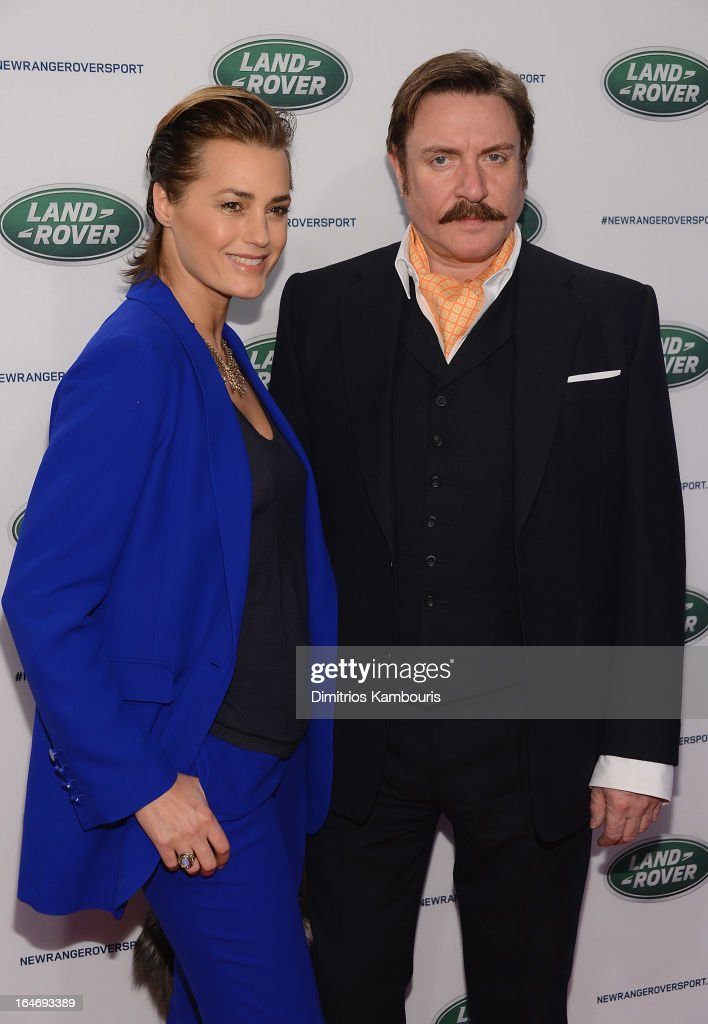 Yasmin Le Bon and Simon Le Bon attend the Range Rover Sport world unveiling at the 2013 New York Auto Show at Skylight at Moynihan Station on March 26, 2013 in New York City.