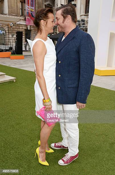 Yasmin Le Bon and Simon Le Bon attend the Royal Academy Summer Exhibition preview party at the Royal Academy of Arts on June 4 2014 in London England