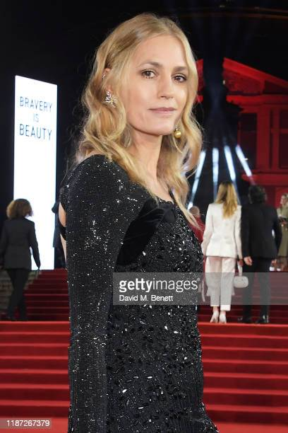 Yasmin Le Bon arrives at The Fashion Awards 2019 held at Royal Albert Hall on December 2 2019 in London England