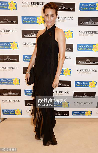 Yasmin Le Bon arrives at The Masterpiece Marie Curie Party supported by JaegerLeCoultre and hosted by Heather Kerzner at The Royal Hospital Chelsea...