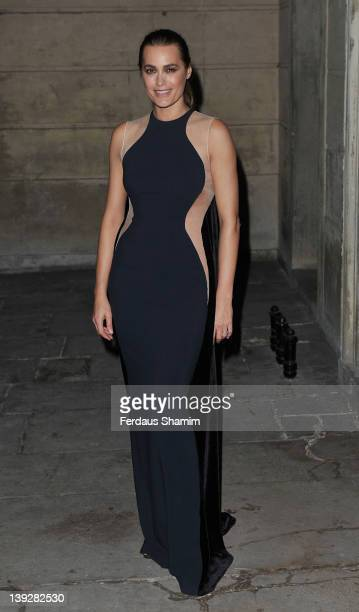 Yasmin Le Bon arrives at the Stella McCartney Autumn/Winter 2012 presentation during London Fashion Week at North Audley Street on February 18 2012...