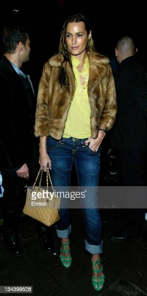 Yasmin Le Bon arrives for the ING Renault F1 Team Wrap Party, at the Mayfair Hotel on November 28, 2007 in London, England.