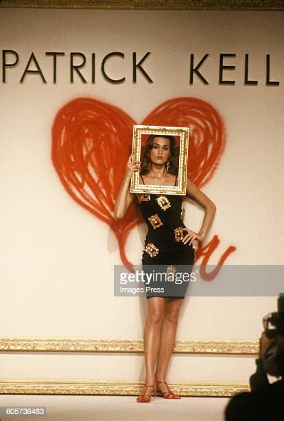 Yasmin Le Bon at the Patrick Kelly Spring 1989 show circa 1988 in Paris France