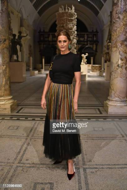 Yasmin Le Bon attends a gala dinner celebrating the opening of the Christian Dior Designer of Dreams exhibition at The VA on January 29 2019 in...