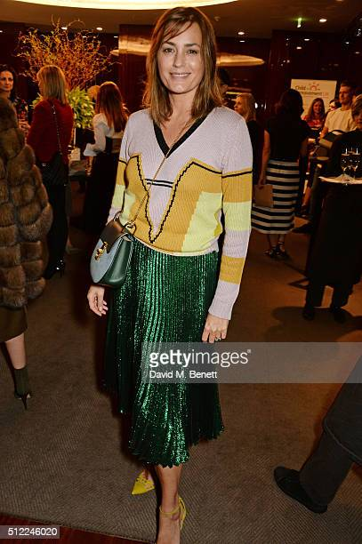 Yasmin Le Bon attends a Ladies' Winter Lunch in aid of Child Bereavement UK at The Bulgari Hotel on February 25 2016 in London England