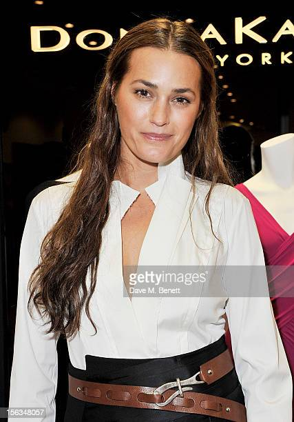 Yasmin Le Bon attends an evening with Donna Karan hosted by Harvey Nichols to celebrate the Resort 2013 Collection launch at Harvey Nichols on...