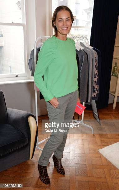 Yasmin Le Bon attends an exclusive breakfast hosted by Malin Jefferies to celebrate the launch of Malin Darlin at Laylow on November 22 2018 in...