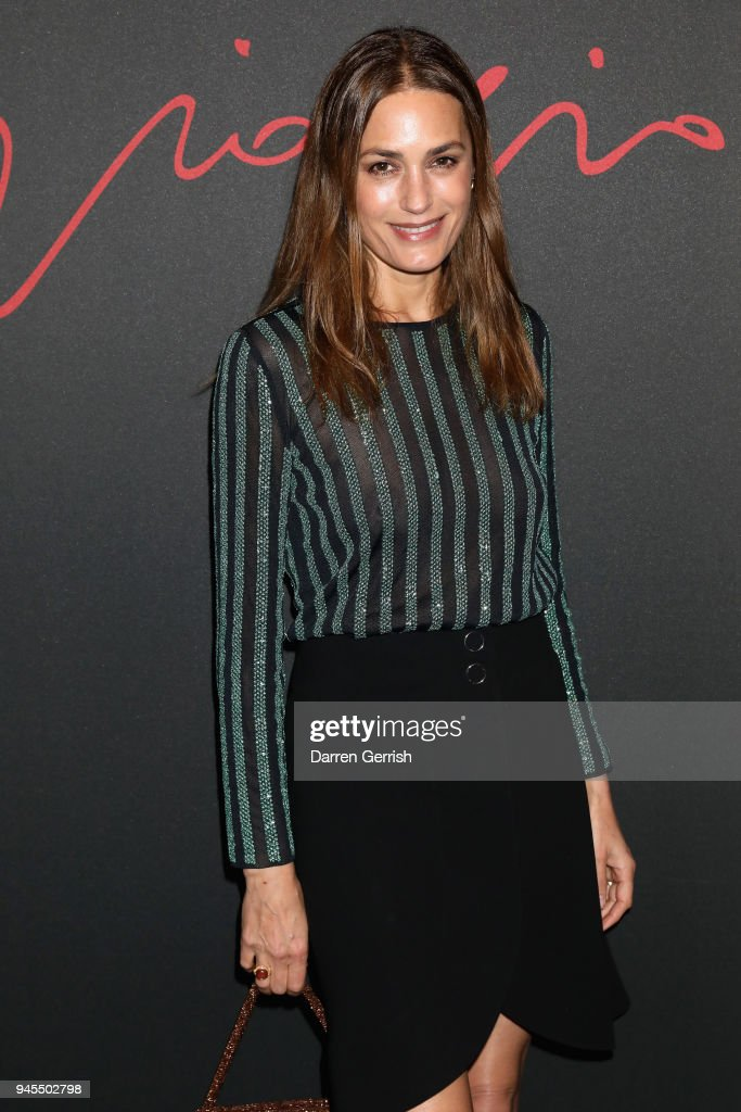 Yasmin Le Bon attends as Giorgio Armani hosts trunk show at the Giorgio's London event to celebrate the opening of the new Giorgio Armani and Armani/Casa boutiques on Sloane Street on April 12, 2018 in London, England.