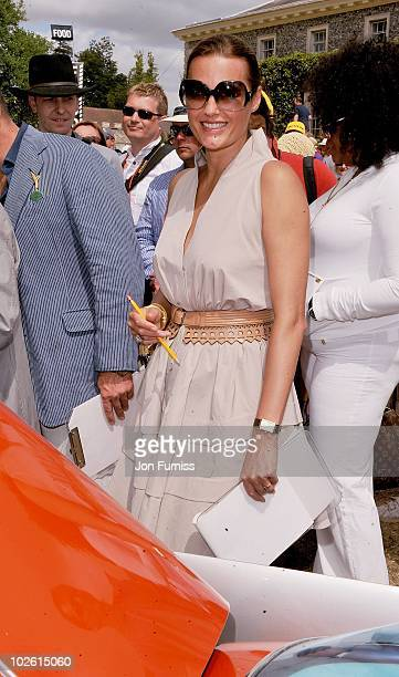 Yasmin Le Bon attends Goodwood Festival of Speed 2010 at Goodwood on July 4 2010 in Chichester England