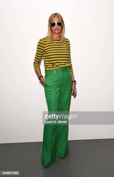 Yasmin Le Bon attends the Antonio Berardi catwalk show during London Fashion Week at BFC Presentation Space on September 18 2017 in London England
