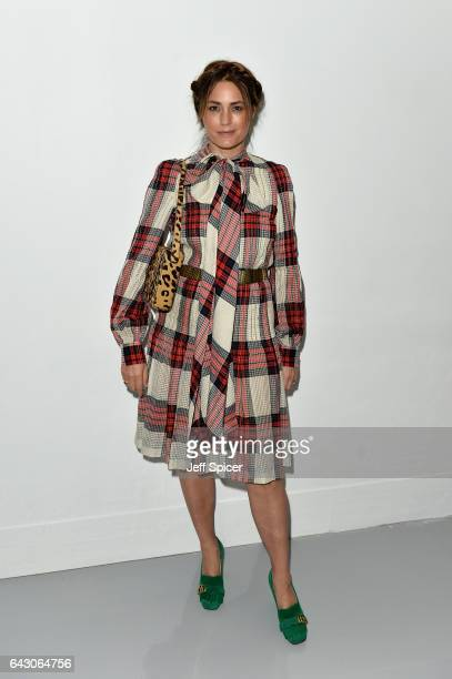 Yasmin Le Bon attends the Antonio Berardi show during the London Fashion Week February 2017 collections on February 20 2017 in London England