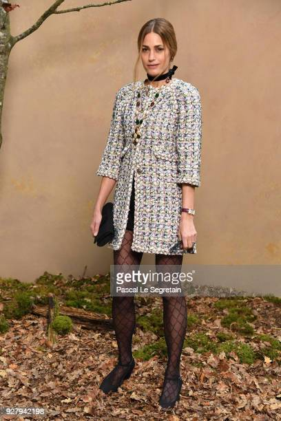 Yasmin Le Bon attends the Chanel show as part of the Paris Fashion Week Womenswear Fall/Winter 2018/2019 at Le Grand Palais on March 6 2018 in Paris...
