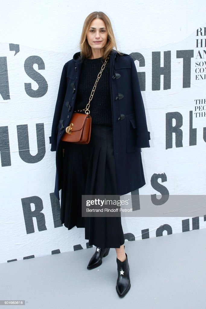 Yasmin Le Bon attends the Christian Dior show as part of the Paris Fashion Week Womenswear Fall/Winter 2018/2019 on February 27, 2018 in Paris, France.