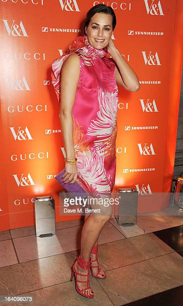 Yasmin Le Bon attends the dinner to celebrate The David Bowie Is exhibition in partnership with Gucci and Sennheiser at the Victoria and Albert...