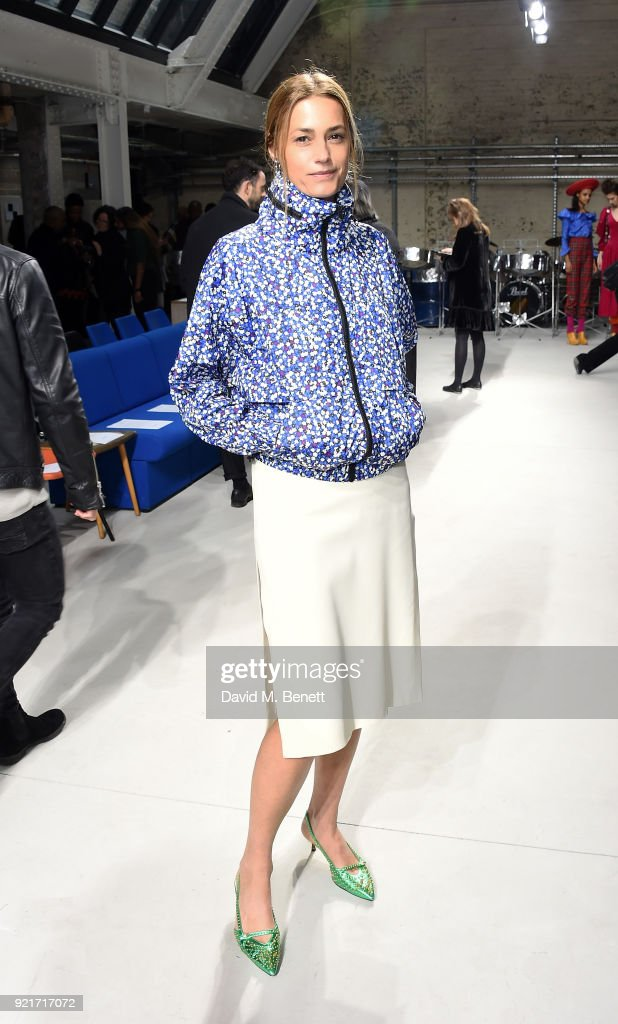 Yasmin Le Bon attends the Isa Arfen show during London Fashion Week February 2018 at Eccleston Place on February 20, 2018 in London, England.