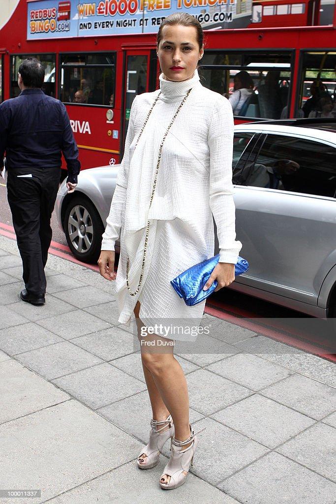 Yasmin Le Bon attends the Ivor Novello Awards at Grosvenor House, on May 20, 2010 in London, England.