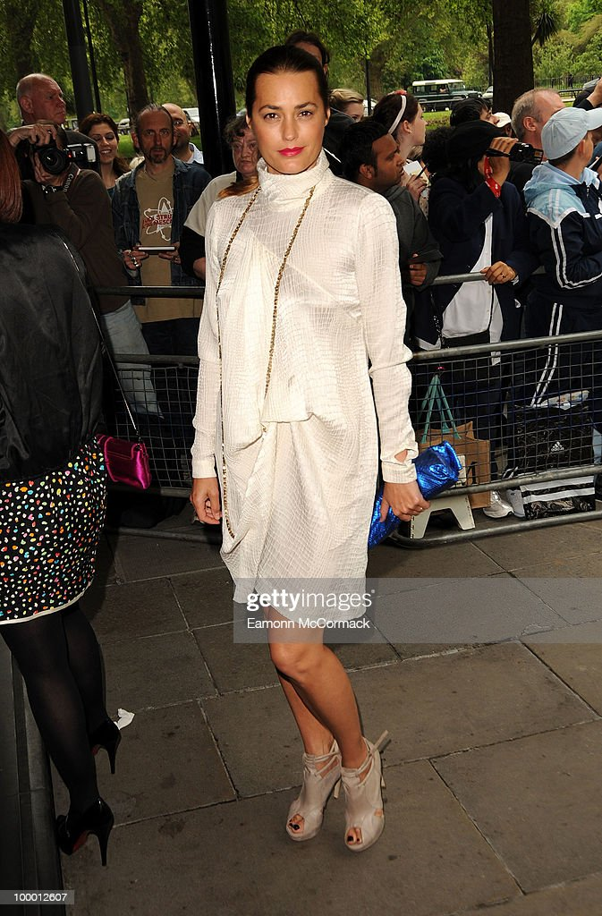 Yasmin Le Bon attends the Ivor Novello Awards at Grosvenor House, on May 20, 2010 in London, England.
