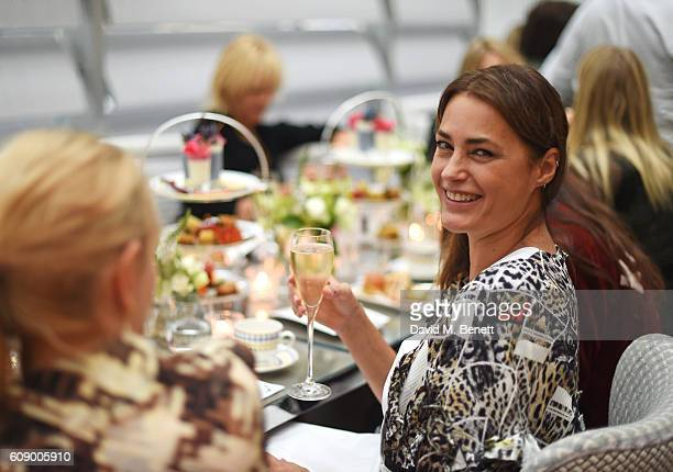 Yasmin Le Bon attends the Jimmy Choo 20th Anniversary and PretaPortea book launch at The Berkeley Hotel on September 20 2016 in London England