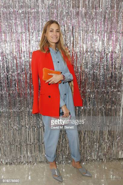 Yasmin Le Bon attends the Lulu Guinness AW18 London Fashion Week presentation on February 17 2018 in London England