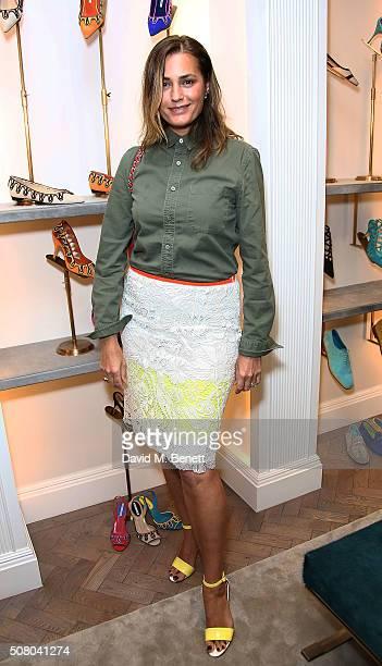 Yasmin Le Bon attends the Manolo Blahnik store launch in Burlington Arcade on February 2 2016 in London England