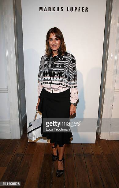 Yasmin Le Bon attends the Markus Lupfer show during London Fashion Week Autumn/Winter 2016/17 at on February 20 2016 in London England