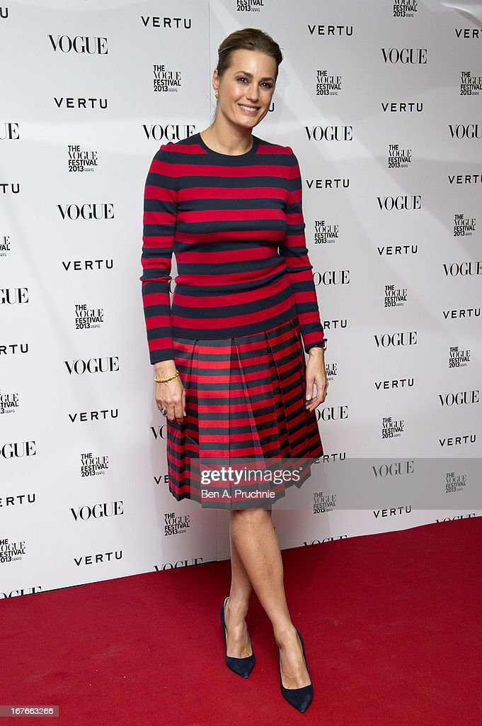 Yasmin Le Bon attends the opening party for The Vogue Festival in association with Vertu at Southbank Centre on April 27, 2013 in London, England.