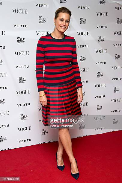Yasmin Le Bon attends the opening party for The Vogue Festival in association with Vertu at Southbank Centre on April 27 2013 in London England