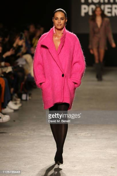 Yasmin Le Bon attends the Oxfam Fashion Fighting Poverty Catwalk Show during London Fashion Week February 2019 at Ambika P3 on February 18 2019 in...