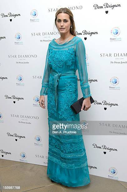 Yasmin Le Bon attends the PeaceEarth foundation fundraising gala at Banqueting House on November 10 2012 in London England