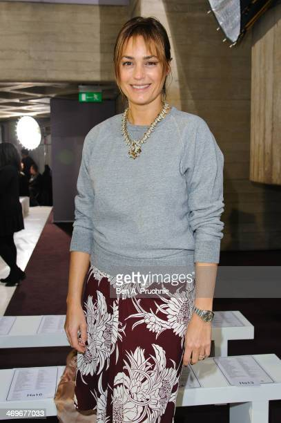 Yasmin Le Bon attends the Preen by Thornton Bragazzi show at London Fashion Week AW14 at on February 16 2014 in London England