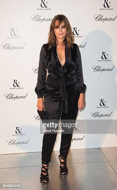 Yasmin Le Bon attends the Ralph Russo And Chopard Host Dinner as part of Paris Fashion Week on July 4 2016 in Paris France