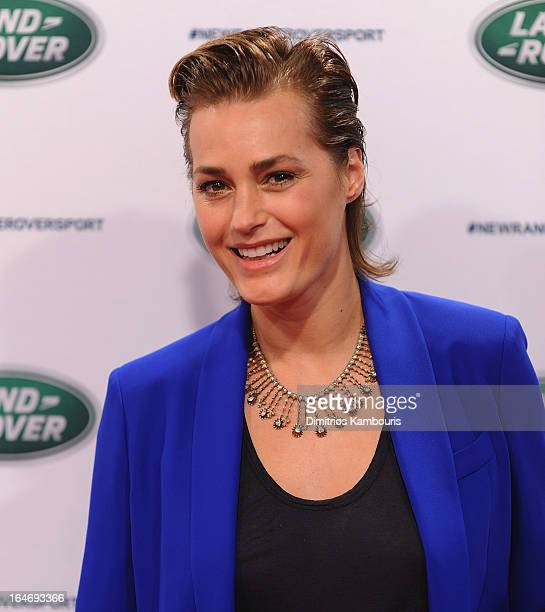 Yasmin Le Bon attends the Range Rover Sport world unveiling at the 2013 New York Auto Show at Skylight at Moynihan Station on March 26, 2013 in New...