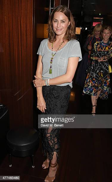 Yasmin Le Bon attends the Red Magazine dinner in honour of Yasmin Le Bon at Bulgari Hotel on June 17 2015 in London England