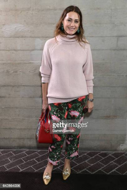 Yasmin Le Bon attends the Roland Mouret show during the London Fashion Week February 2017 collections on February 19, 2017 in London, England.