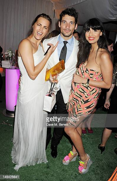 Yasmin Le Bon David Gandy and Jameela Jamil attend an after party following the Glamour Women of the Year Awards in association with Pandora at...