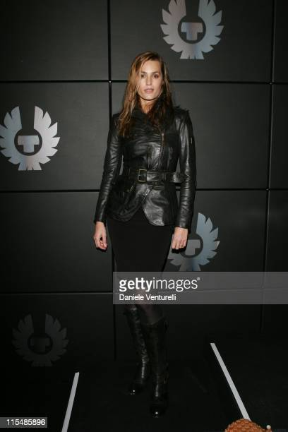 Yasmin Le Bon during Milan Fashion Week Fall/Winter 2007 Belstaff Arrivals and Front Row at Milan in Milan Italy