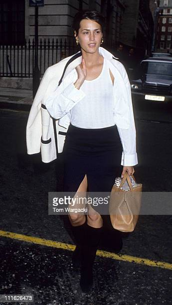 Yasmin Le Bon during Yasmin Le Bon at The Rainforest Ball May 14 1992 at Grosvenor House Hotel in London Great Britain