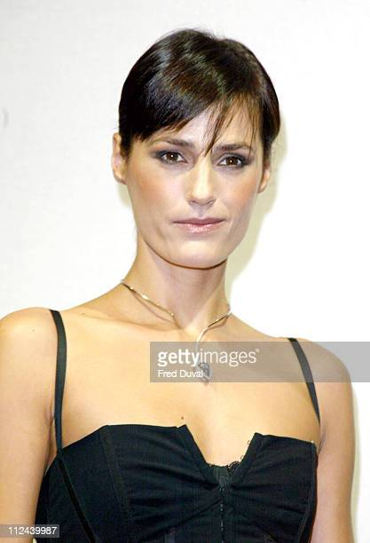 Yasmin Le Bon during Yasmin Le Bon Wearing The Blue Empress Designed By Christian Tse at Harrod's in London Great Britain
