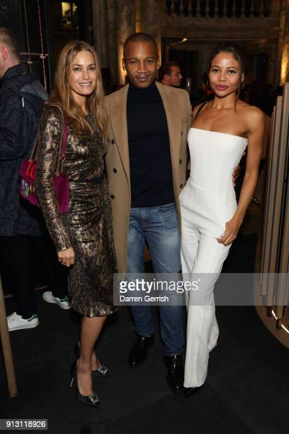Yasmin Le Bon Eric Underwood and Lady Emma Weymouth attend the E by Equinox launch event at St James's Palace on February 1 2018 in London England