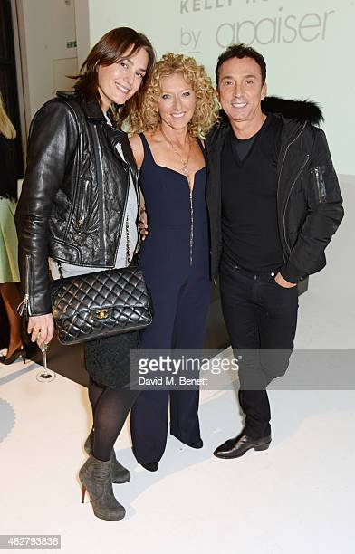 Yasmin Le Bon Kelly Hoppen and Bruno Tonioli attend the global unveiling of Kelly Hoppen's new bathware collection with Apaiser at IRIS Studios on...