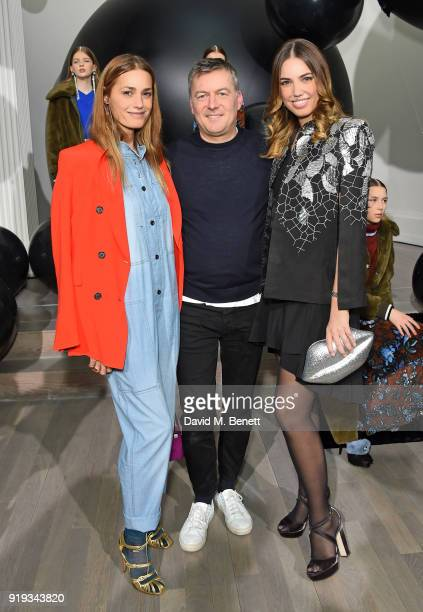 Yasmin Le Bon Markus Lupfer and Amber Le Bon attend the Markus Lupfer show during London Fashion Week February 2018 at The Swiss Church on February...
