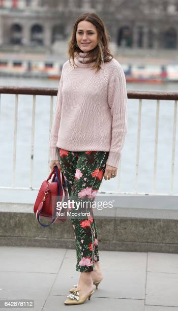 Yasmin Le Bon seen at Roland Mouret at the National Theatre on Day 3 of London Fashion Week February 2017 on February 19, 2017 in London, England.
