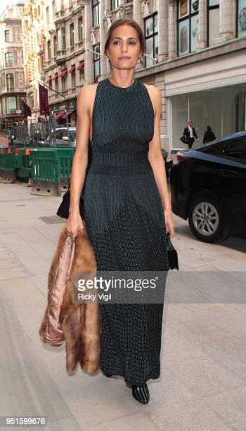 Yasmin Le Bon seen attending Azzedine Alaia flagship store launch party on April 26 2018 in London England