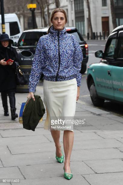 Yasmin Le Bon seen attending the Richard Quinn show during London Fashion Week at the BFC Showspace during LFW February 2018 on February 20, 2018 in...