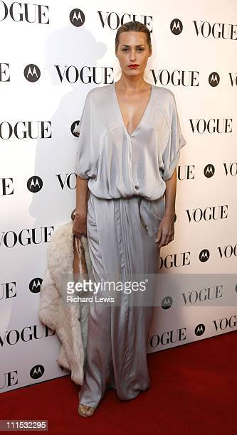 Yasmin Lebon during Vogue's 90th Birthday and Motorola Party Red Carpet Arrivals in London United Kingdom