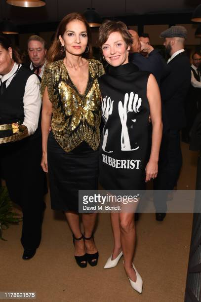Yasmin Mills and Camilla Rutherford attend the inaugural collaboration of OKA and Ron Arad during PAD London on October 02 2019 in London England