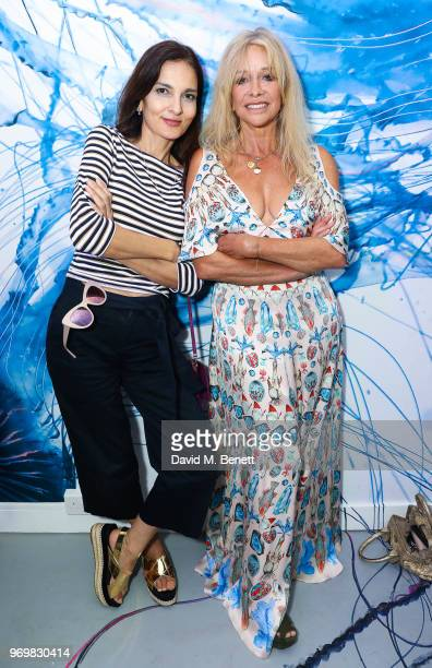Yasmin Mills and Jo Wood attend the launch of Sky Ocean Rescue's 'Pass On Plastic Experience' on June 8 2018 in London England