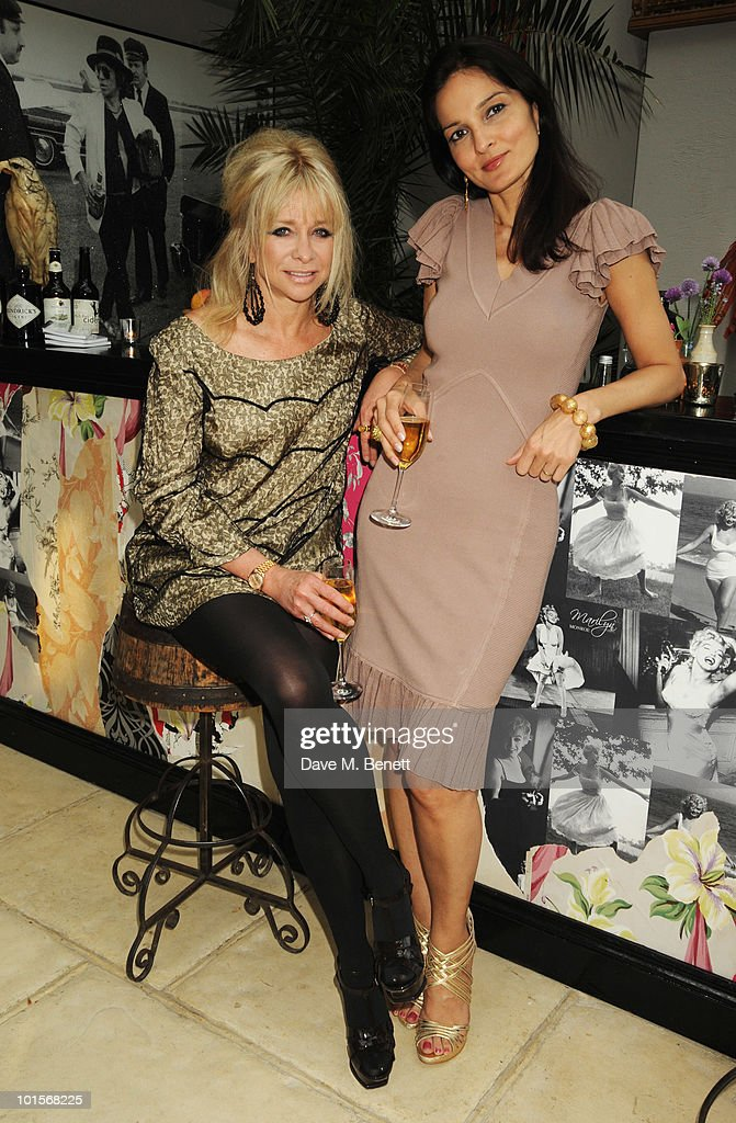 Yasmin Mills and Jo Wood attend the Mrs Paisley's Lashings private dinner on June 2, 2010 in London, England.